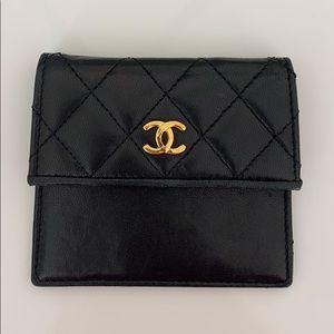 Black Chanel Coin Purse / Card Holder